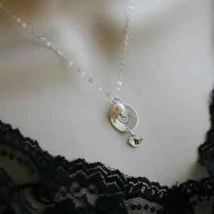 Original Bird initial necklace,gran..