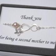 Mother in law,Godmother,Mother infinity love bracelet,Grandma,Mother jewelry,Mother of groom,Greeting card