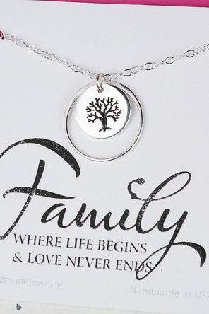 Family Tree karma Necklace,Mother's day gift,Gift for mother,Mother of the groom gift, mother in law gift, gift from bride to mom