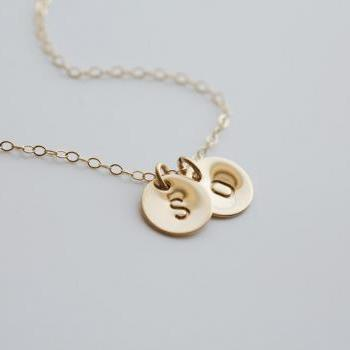 Customize TWO initial Necklace,14k GOLD Filled, Family, Couple,Birthday,Best Friend, Kid, Sisterhood, Mother's Jewelry