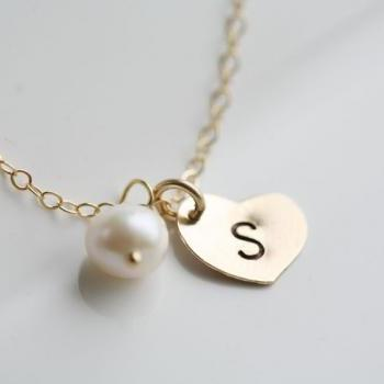 Heart initial Gold Fill necklace,Custom birthstone,Monogram necklace,Bridesmaid gifts,Wedding jewelry,birthday